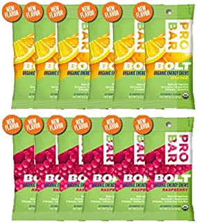 product image for Probar Bolt Organic Energy Chews Orange and Raspberry - Six of Each Flavor, Box of 12 …