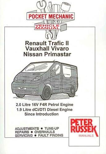 pocket mechanic for renault trafic ii, vauxhall opel vivaro nissan nv200 wiring diagram workshop manual nissan primastar (x83