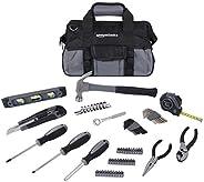 AmazonBasics 65 Piece Home Basic Repair Tool Kit Set With Bag
