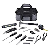 AmazonBasics 65-Piece Home Repair Kit, Basic Tool Set for...