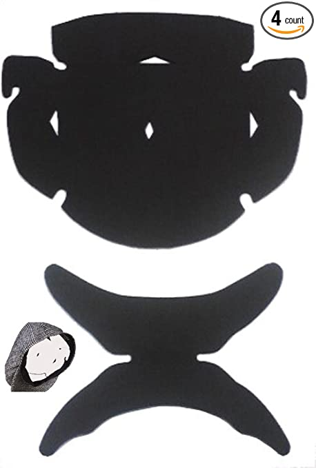 5a404800f40b91 3 Pack. Black-Flat Cap Panel Shapers and Hat Crown Inserts Combo-Comfortable