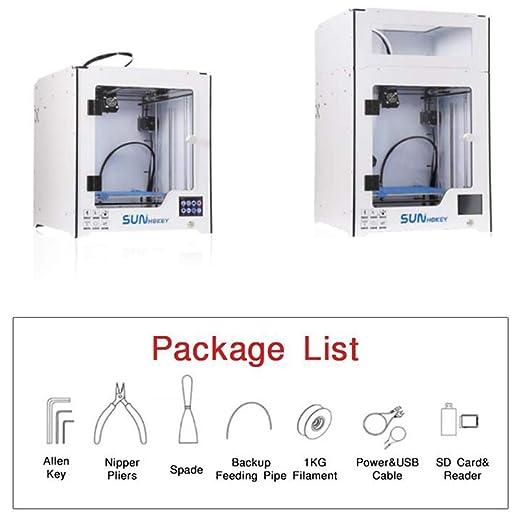 ZMM Impresora 3D con Cama de Calor y Caja de Control de Vidrio DIY ...