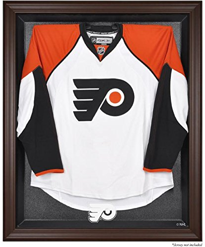 Philadelphia Flyers Brown Framed Logo Jersey Display Case - Logo Display Browns Case