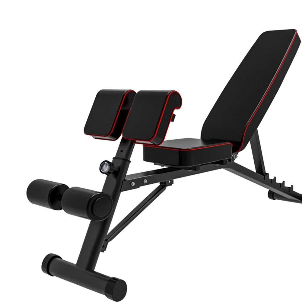 トレーニングベンチ 男女兼用の大人の調節可能な実用的なベンチ、適性のオールインワンベンチ、頑丈な訓練の重量はベンチの試しの家の体操を着席させます   B07NV3NBTP