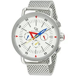 Giulio Romano Men's GR-1000-04-001B Toscana White Dial Multi Function Stainless-Steel Watch