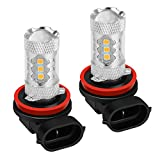 H11 H8 H16 LED Fog Light Bulb 2PC SUGERYY Yellow 2800-2900K 3535 SMD DRL Fog Light Replacement