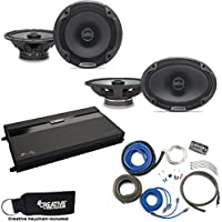 Alpine Type-E SPE-6000 6.5 Speakers, SPE-6090 6x9 Speakers, MB Quart ZA2-1600.4 4-Channel Amp & Wire Kit