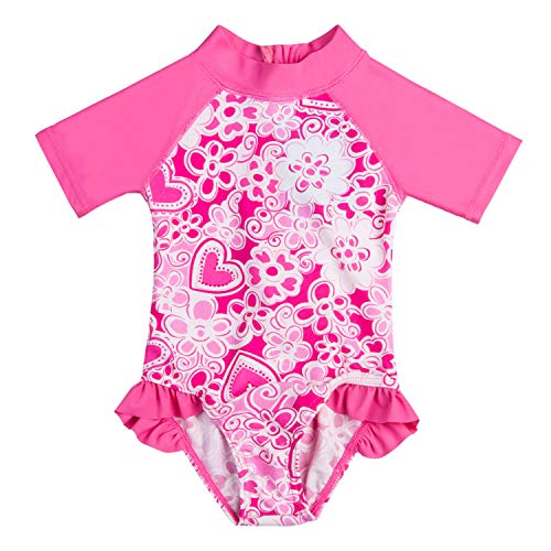 Vivafun Baby Girl Sun Protective Swimwear Infant Toddler Ras