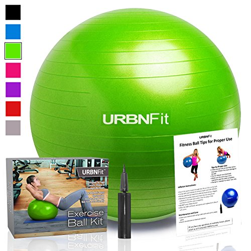 Exercise Ball (Multiple Sizes) for Fitness, Stability, Balance & Yoga - Workout...