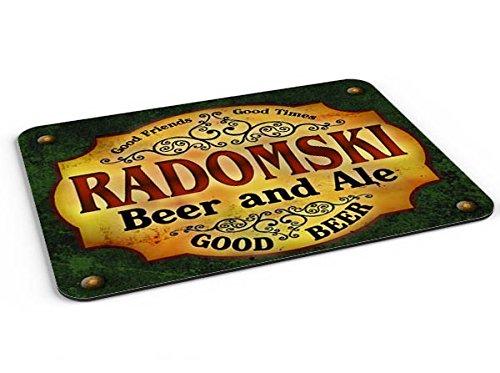 Radomski Beer & Ale Mousepad/Desk Valet/Coffee Station Mat