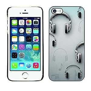 [Neutron-Star] Snap-on Series Teléfono Carcasa Funda Case Caso para iPhone 5 / 5S [Música Gris Dj Sound]