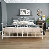 DHP Tokyo Metal Bed, White, King