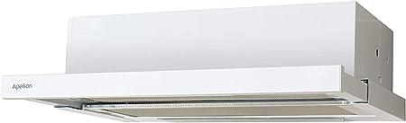 Apelson Campana Modelo AIR 201 | Tres nivelesde extracción | Instalación con salida de aire al exterior/recirculación | Eficiencia energética D | Color blanco, 60 x 28 x 13,50: Amazon.es: Hogar