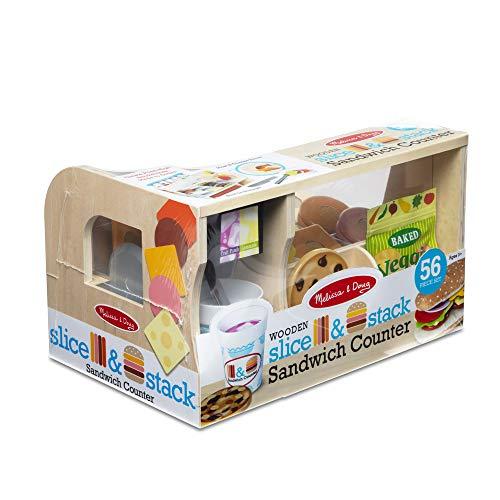 Melissa & Doug Houten Slice & Stack Sandwich Counter | Doe alsof Speel | Speel Voedsel | 3+ | Cadeau voor Jongen of…