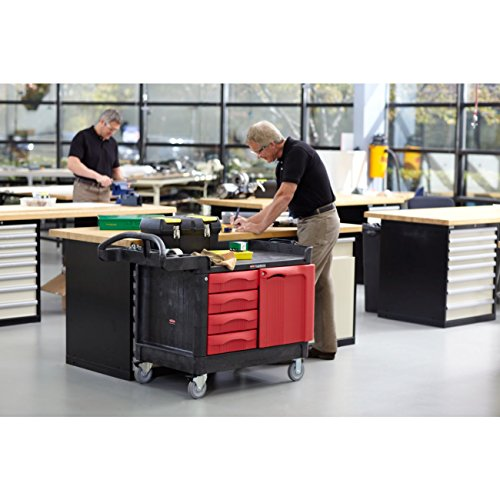 Rubbermaid Commercial Trademaster 4 Drawer Mobile Work