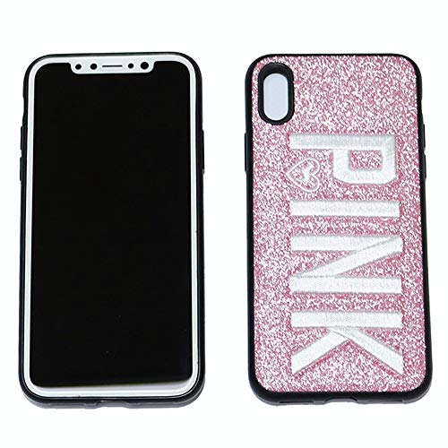 Fitted Cases - for iPhone Xs Max X XR Case 3D Embroidery Glitter Pink Cover for iPhone 6 6S 8 7 Plus Soft Secret Shiny Cases for iPhone 5 5s Se - by Aquaman Store - 1 PCs