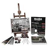 Soho Urban Artist Acrylic Paint Set - Professional Artist Easel, Acrylic Paint, Acrylic Mediums, Paint Brushes, Palette Knives, Paper Palette - Complete Acrylic Painting Set