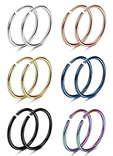 FIBO STEEL 5 12PCS Stainless Piercing