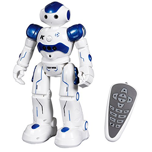 Remote Control RC Programmable Robot for Kids Birthday Gift Present, Interactive Walking Singing Dancing Smart Robotics for Kids Boys Girls (Blue) -