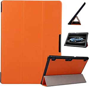 "for Lenovo Tab2 10.1 A10-70F Case, Ultra Lightweight Smart Slim Shell Stand Cover Case for Lenovo Tab 10 TB-X103F, Tab 3 10.1 TB3-X70F X70M X70L Tab3 10.1"" +1x Clear Soft Screen Protector (Orange)"