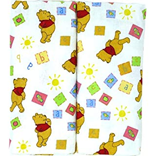 "Disney Winnie The Pooh Receiving Blankets. Two Pack of Varied Prints and Styles. Boy 30"" x 30"" … (Varied Style)"
