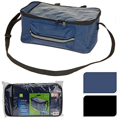 Fahrrad Lenker Tasche Isolierte Kühltasche Front Packtasche Kartenhalter - Blau