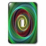 3dRose David Zydd - Colorful Abstract Designs - Time Travel - colorful twisting curved stripes - Light Switch Covers - single toggle switch (lsp_286777_1)