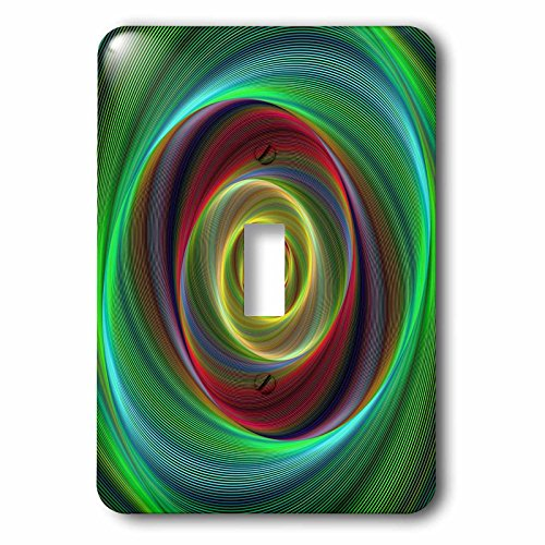 3dRose David Zydd - Colorful Abstract Designs - Time Travel - colorful twisting curved stripes - Light Switch Covers - single toggle switch (lsp_286777_1) by 3dRose