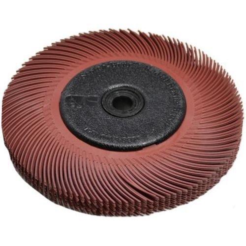 GHP 3M Red 6'' Diameter 220 Grit 3-Radial Bristle Discs