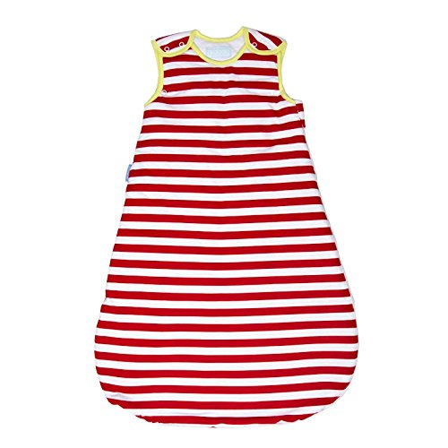 Moses Basket Cotton Stripes (Grobag Newborn Baby Sleep Bag Wearable Blanket, Age 0-6 Months, Deckchair Stripe)