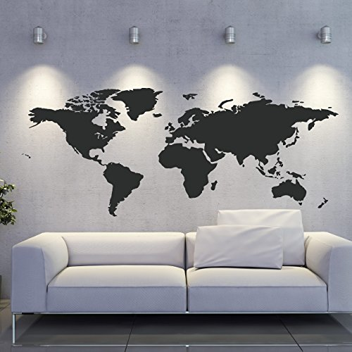 Globe sticker trainers4me world map wall decal world wall sticker map wall vinyl globe decal geography decor ae585 gumiabroncs Image collections
