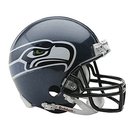 7a4f2726900 Amazon.com   NFL Seattle Seahawks Replica Mini Football Helmet ...
