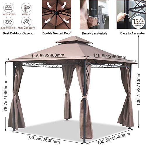 10' X 10' Gazebo Canopy Tent