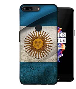 ColorKing Football Argentina 18 Multicolor shell case cover for OnePlus 5T