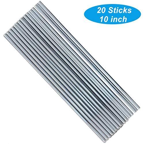 Aluminum Welding Rods, 20 Universal Low Temperature Aluminum Repair Rods, Easy Welding Cored Wire for Electric Power, Chemistry, 2mm, 10inch