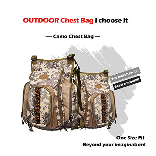 AnglerDream Fly Fishing Pack Outdoor Sports Mesh Vest Pack/Chest Pack/Sling Pack/Back Pack Universal Adjustable Fishing Hunting Hiking Fishing Pack with Storage Compartments