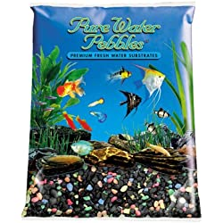 Pure Water Pebbles Aquarium Gravel, 25-Pound, Black Beauty Pebble Mix