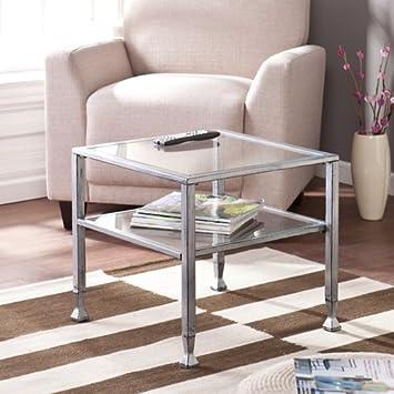 Amazoncom Southern Enterprises MetalGlass Bunching Coffee Table