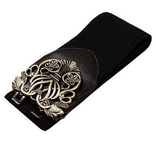Amazon.com: foucome Mujer Retro elástico cintura cinturón de ...