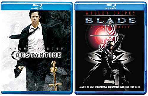 Constantine + Blade Blu Ray movie Set - Super dark Fantasy Series vampire + Angels