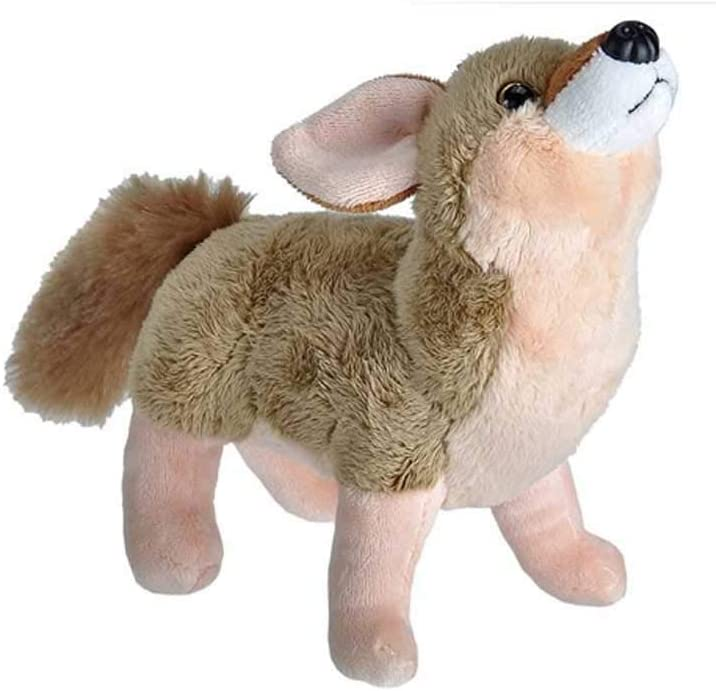 """Wild Republic Wild Calls Coyote, Authentic Animal Sound, Stuffed Animal, Eight Inches, Gift for Kids, Plush Toy, Fill is Spun Recycled Water Bottles, 6"""" (23313)"""