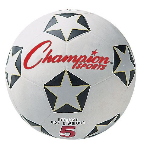 Champion Sports Size 5 Rubber Cover Soccer Ball