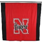 "NCAA Nebraska Cornhuskers Nebraska Cornhuskersbig Logo Shower Curtain, Red, 72"" x 70"""