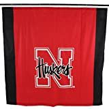NCAA Nebraska Cornhuskers Nebraska Cornhuskersbig Logo Shower Curtain, Red, 72'' x 70''