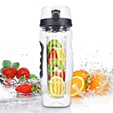 VANTAKOOL Fruit Infused Water Bottle, 32OZ Sport Fruit Infuser Water Bottle with BPA Free Plastics and Tritan Sports Bottle with Fruit Infuser for Sports & Fitness Enthusiasts