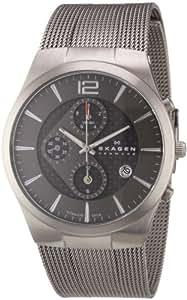 Skagen Men's 906XLTTM Titanium Titanium Chronograph Watch