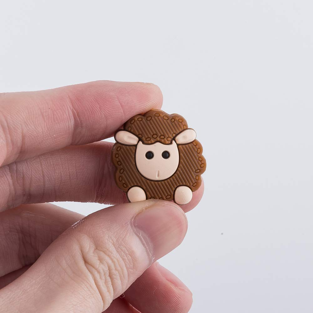 20PCS Baby Teeth Nursing Chewing Silicone Beads Handmade Mini Animal Loose Beads DIY Accessories