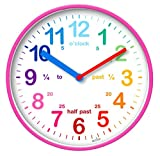 Acctim 22520 Wickford Kids Wall Clock in Pink