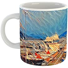 Westlake Art - Coffee Cup Mug - Landmarks Panama Canal - Modern Abstract Artwork Home Office Birthday Gift - 11oz (69m 7ef edb)