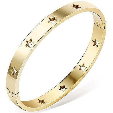 Amazon.com: Jude Jewelers - Pulsera clásica de acero ...